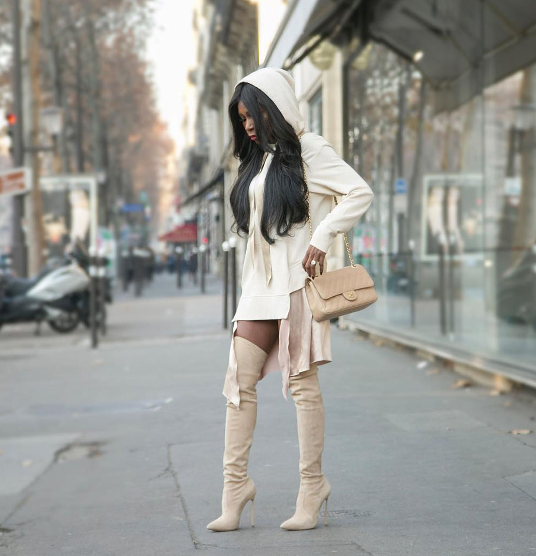 Ava Beige Suede Leather Boots (6)