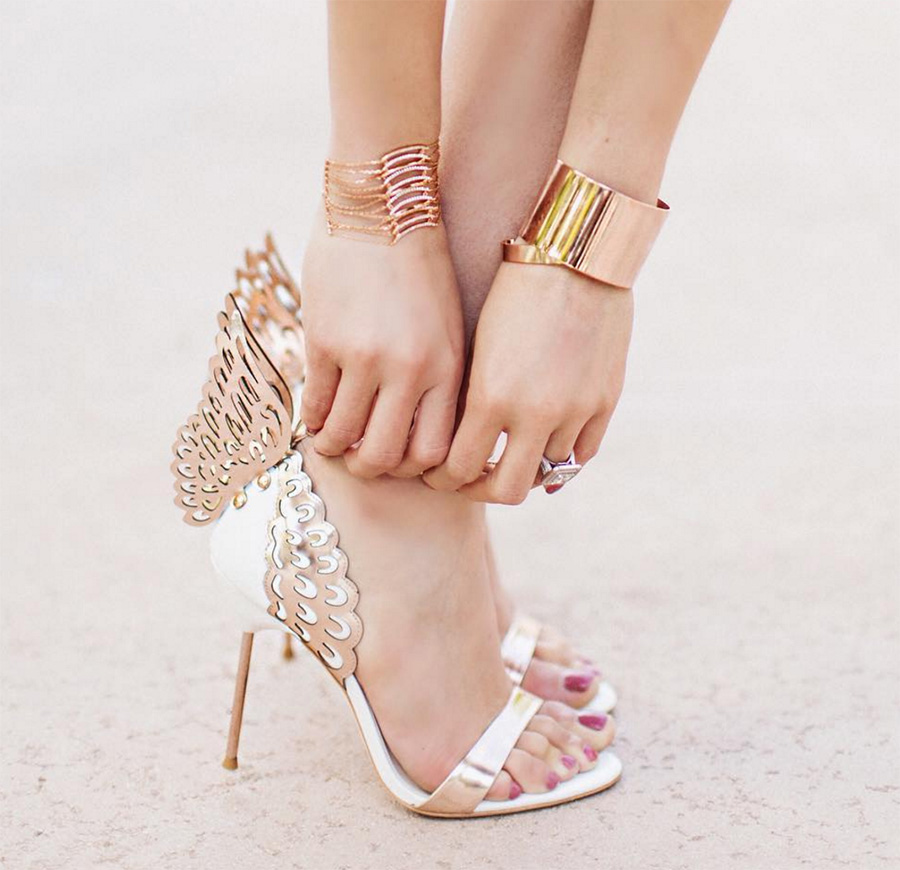 Gloria Gold Wings Sandals (1)