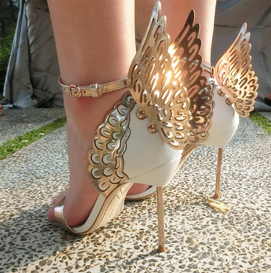 Gloria Gold Wings Sandals (2)