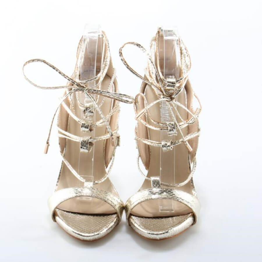 Thea Gold Lace Up Sandals (2)