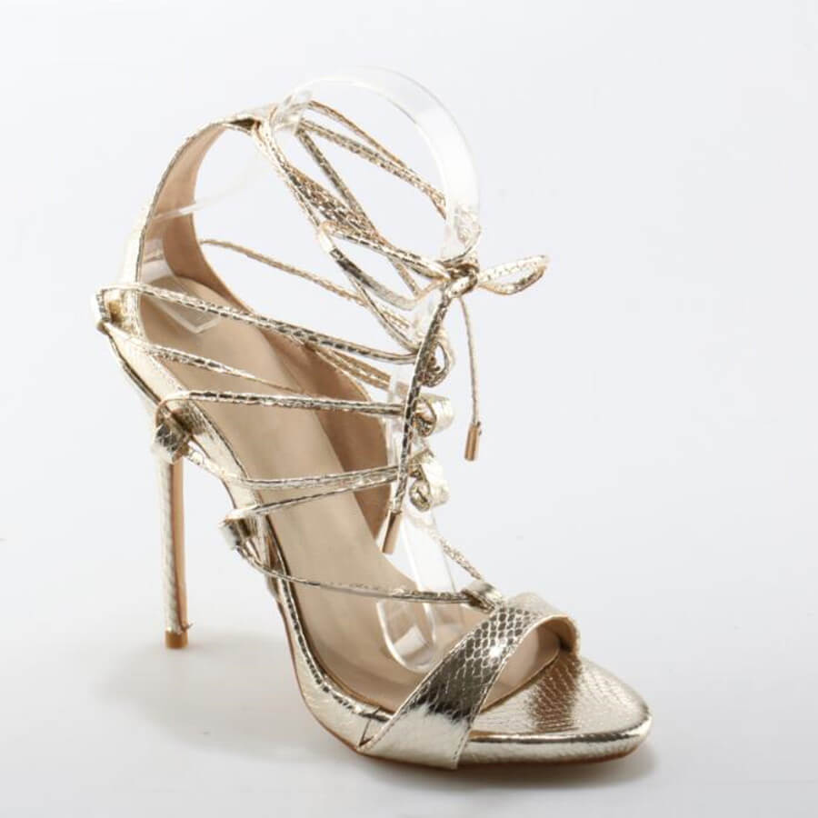 Thea Gold Lace Up Sandals (4)