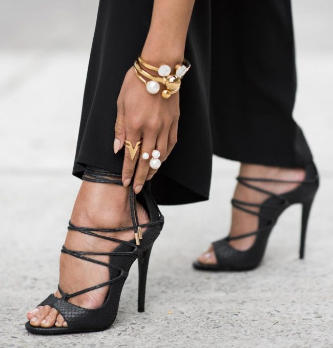 Thea Lace Up Sandals