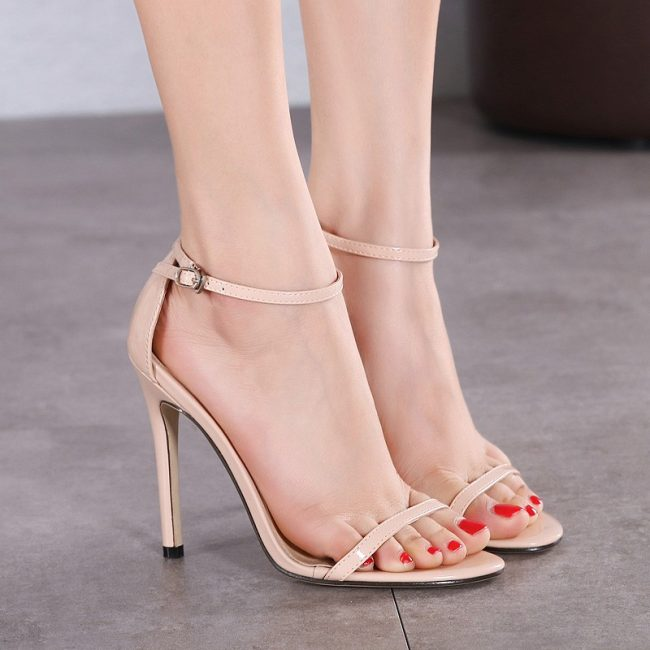 Tracy Nude Leather Sandals (1)