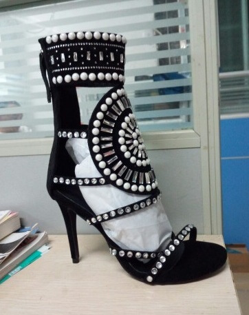Ida Crystal Design Sandals 2