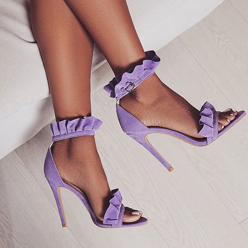 LILA RUFFLE SANDALS Purple 2